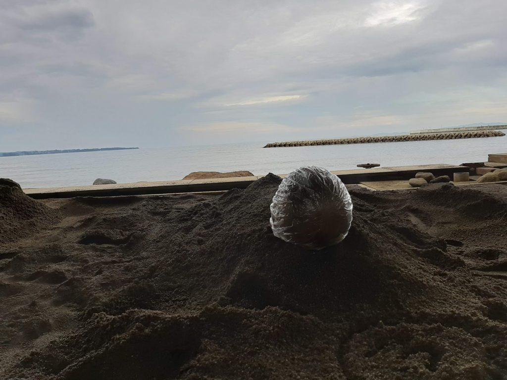 砂湯の様子