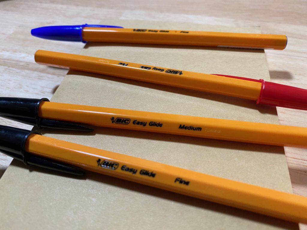 BICボールペン全3色
