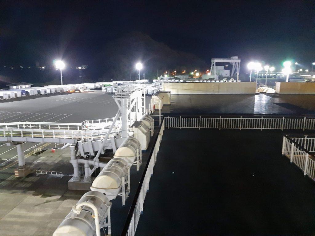 敦賀港からの出港の様子