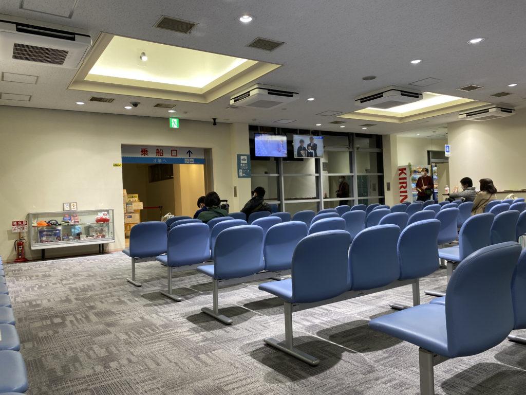 神戸六甲港さんふらわあフェリーターミナル内待合室