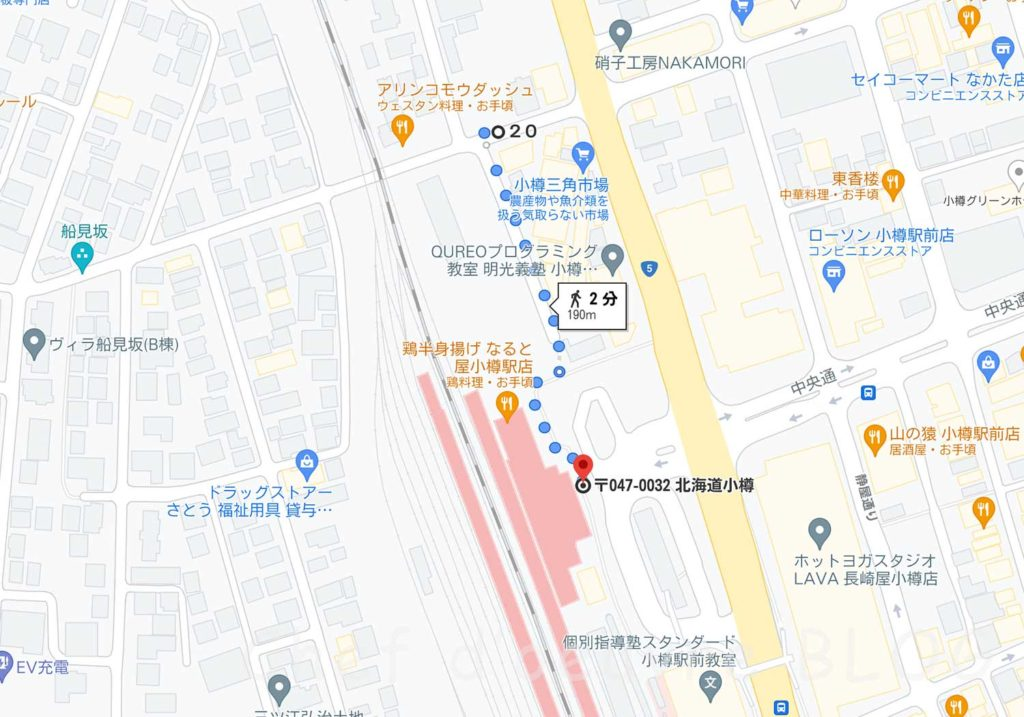 小樽駅からの道順